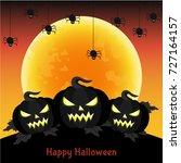 halloween greeting card.  ... | Shutterstock .eps vector #727164157