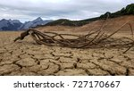 dry tree lying on dry  cracked... | Shutterstock . vector #727170667