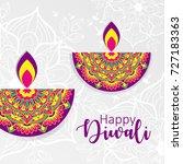 diwali festival greeting card... | Shutterstock .eps vector #727183363