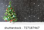 colorful christmas tree ... | Shutterstock . vector #727187467