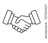 handshake line icon. meeting... | Shutterstock .eps vector #727201027
