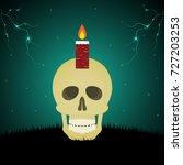 halloween festival and...   Shutterstock .eps vector #727203253