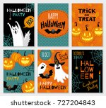 collection of halloween banner... | Shutterstock .eps vector #727204843