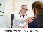 doctor encouraging an ill... | Shutterstock . vector #727208293
