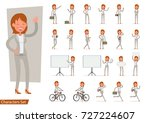 set of businesswoman character... | Shutterstock .eps vector #727224607
