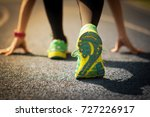 sport runner in a start... | Shutterstock . vector #727226917