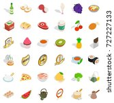 bread icons set. isometric... | Shutterstock .eps vector #727227133