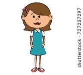 beautiful little girl character | Shutterstock .eps vector #727237297