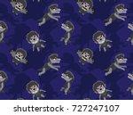 big head werewolf poses cartoon ...   Shutterstock .eps vector #727247107