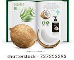 coconut oil.illustration  | Shutterstock .eps vector #727253293