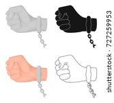 handcuff on the hand of the... | Shutterstock .eps vector #727259953