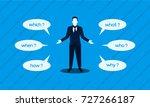 businessman asked questions ... | Shutterstock .eps vector #727266187