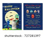 halloween party invitation with ... | Shutterstock .eps vector #727281397