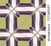 seamless checkered pattern.... | Shutterstock .eps vector #727285057
