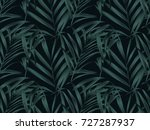 tropical plant seamless pattern ... | Shutterstock .eps vector #727287937