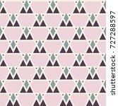 triangle pattern design ... | Shutterstock .eps vector #727288597