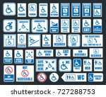 handicap icons  parking and... | Shutterstock .eps vector #727288753