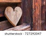 Wooden Heart Outside Of A...