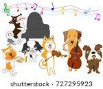 a dog's concert. | Shutterstock .eps vector #727295923