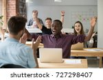 young african american office...   Shutterstock . vector #727298407