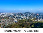 view of cityscape and seoul...   Shutterstock . vector #727300183