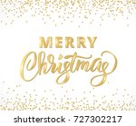 merry christmas card with hand... | Shutterstock .eps vector #727302217