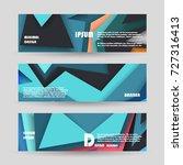 vector horizontal banner... | Shutterstock .eps vector #727316413