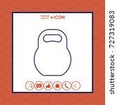 kettlebell line icon | Shutterstock .eps vector #727319083