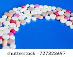pills. concept of medicine and... | Shutterstock . vector #727323697