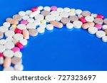 pills. concept of medicine and... | Shutterstock . vector #727323697