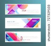 vector horizontal banner... | Shutterstock .eps vector #727329103