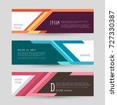 vector horizontal banner... | Shutterstock .eps vector #727330387
