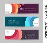 vector horizontal banner... | Shutterstock .eps vector #727330483