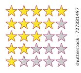5 star rating. collection of... | Shutterstock .eps vector #727331497