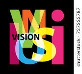 vector vision. broken text | Shutterstock .eps vector #727332787