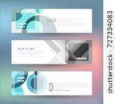 vector horizontal banner... | Shutterstock .eps vector #727334083