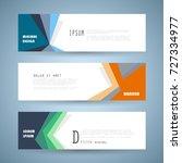 vector horizontal banner... | Shutterstock .eps vector #727334977
