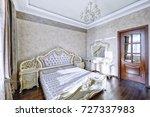 russia  moscow region   bedroom ... | Shutterstock . vector #727337983