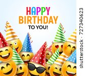 birthday happy smile greeting... | Shutterstock .eps vector #727340623