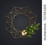 geometric gold metallic... | Shutterstock .eps vector #727351333