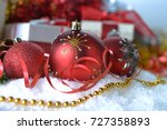 christmas toys  and gifts boxes ... | Shutterstock . vector #727358893