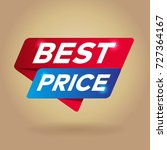 best price arrow colored tag... | Shutterstock .eps vector #727364167