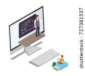 online learning concept vector... | Shutterstock .eps vector #727381537