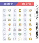 set vector line icons  sign and ... | Shutterstock .eps vector #727388077