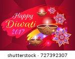 happy diwali 2017 festival of... | Shutterstock .eps vector #727392307