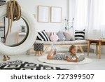 white tire on line above black... | Shutterstock . vector #727399507