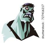 evil zombie monster creature... | Shutterstock .eps vector #727416217