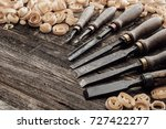 old carving and woodworking... | Shutterstock . vector #727422277