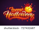 happy halloween vector... | Shutterstock .eps vector #727432687