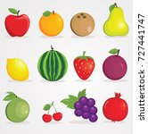 vector illustration of colorful ... | Shutterstock .eps vector #727441747